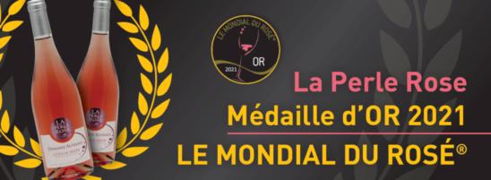 La Perle Rose 2020 médaillé d'OR 2021 - Le Mondial du Rosé